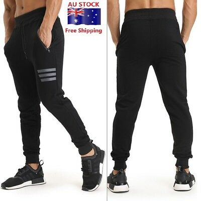 Men's Sports Gym Pants Fitness Running Joggers Trousers Sweatpants AU SHIPPING!