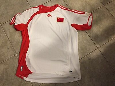 Vintage Adidas China National Soccer Team Jersey Football sz Large USED 5893de9b4