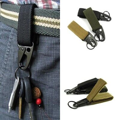 Outdoor Survival Carabiner for key Military Hunting Webbing Buckle Tactical Belt