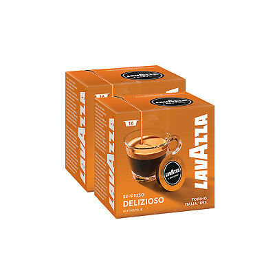 Lavazza A Modo Mio Espresso Delizioso 32 Pods for Capsule Coffee Machine, Medium