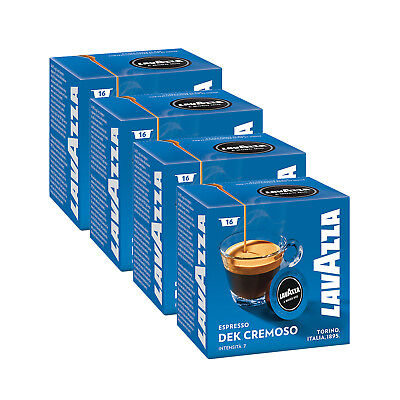Lavazza A Modo Mio Espresso Dek Cremoso 64 Pods Coffee Machine Capsules, Medium