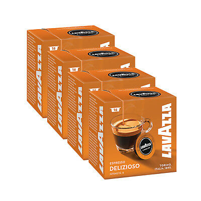 Lavazza A Modo Mio Espresso Delizioso 64 Pods for Capsule Coffee Machine, Medium