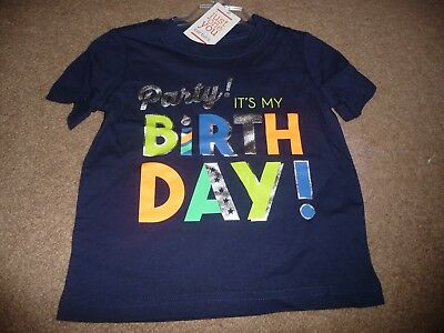 NEW NWT Carters Just One You Boys Size 2t Party Its My Birthday Shirt