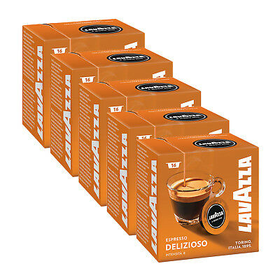 Lavazza A Modo Mio Espresso Delizioso 80 Pods for Capsule Coffee Machine, Medium