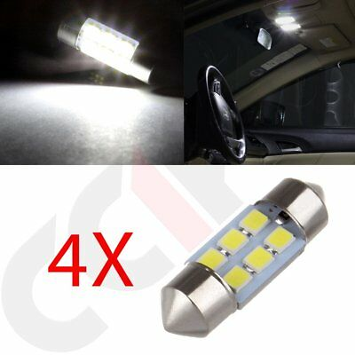 4x Super White 6SMD Festoon Interior For Dome/Map Bulb Car LED Lights 31MM 12V