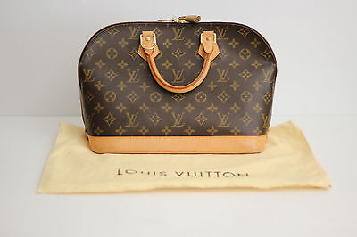 a26f303de42 Authentic LOUIS VUITTON Alma PM Small Leather Handbag w/Dustbag- Monogram  Canvas