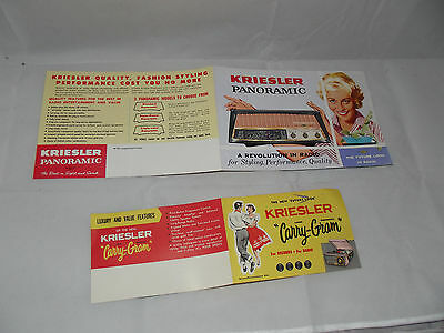 Vintage Retro Kriesler panoramic Carry Gram Brochures Geniune