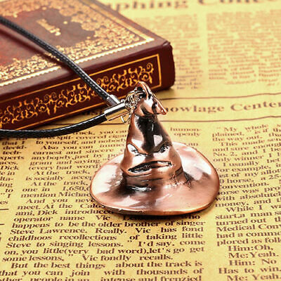 Hot Fashion style Harry Potter Movie Magic Hat Leather Rope Necklace Chain Gifts