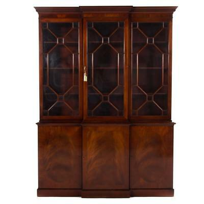 George III style mahogany breakfront bookcase Lot 1179