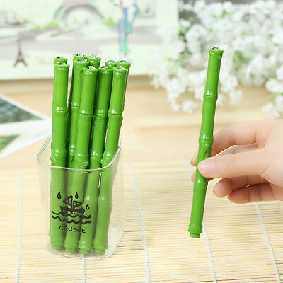 Funny Bamboo Pen Ballpoint Big diamond Neutral Pens Students stationery EEC0D26