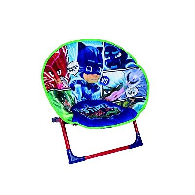 PJ Masks Kids Children Soft Padded Home Garden Patio Folding Moon Portable Chair