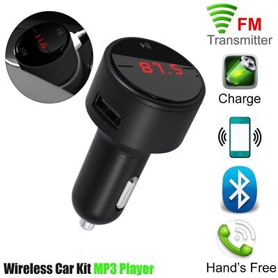 Auto Car FM Transmitter MP3 Player KFZ Bluetooth Freisprechanlage USB Ladegerät