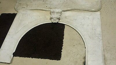 Beautiful Antique White Marble Fireplace Mantle