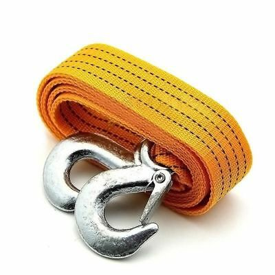 3M Heavy Duty 3 Tons Car Tow Cable Emergency Trailer Pull Rope Strap 2 Hooks UK