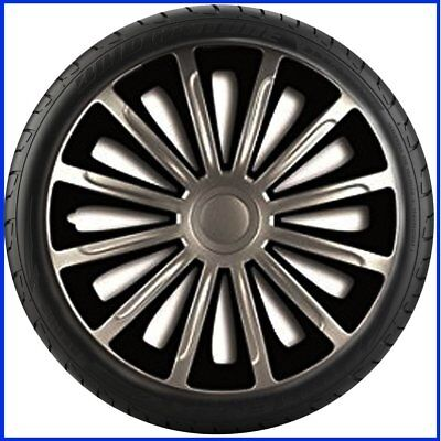 "16"" 16 Inch Car Van Wheel Trims Hub Caps Covers Sport Alloy Tyre Black & Silver"