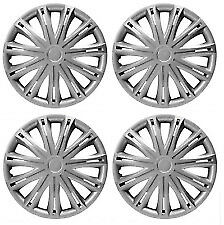 "15"" 15 Inch Car Van Wheel Trims Hub Caps Abs Racing Spokes Alloy Look Silver"