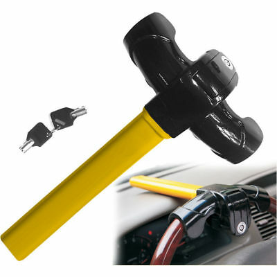 Heavy Duty Anti Theft Rotary Security Safe VAN Car Steering Wheel Lock Universal