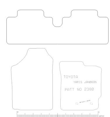 Toyota Yaris (2006-2011) Tailored Car Floor Mats  RUBBER HEAVY+ CLIPS