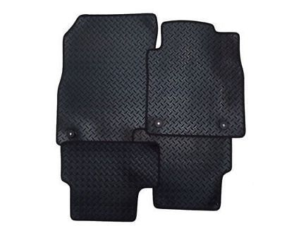 TOYOTA YARIS (2011 ON) 3 Piece Tailored Car Floor Mats RUBBER HEAVY + 2 Clips