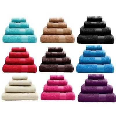 Catherine Lansfield 100% Cotton Towels Hand Bath Towel Face Cloth Set Brand New