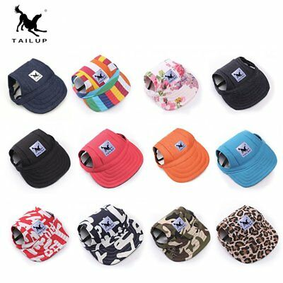 Dog Baseball Hat Summer Canvas Cap Only For Small Pet Puppy Outdoor Sun Hat MI