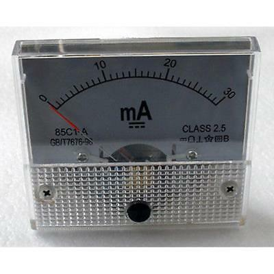 0- 30mA DC Ammeter Amp Current Panel Meter Analogue Analog NEW TR