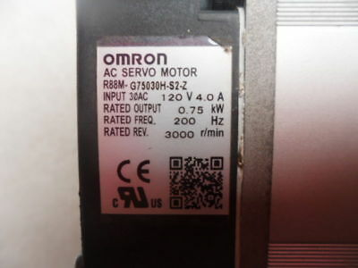 1pcs Used 100% test Omron Servo Motor R88M-G75030H-S2-Z by DHL or EMS