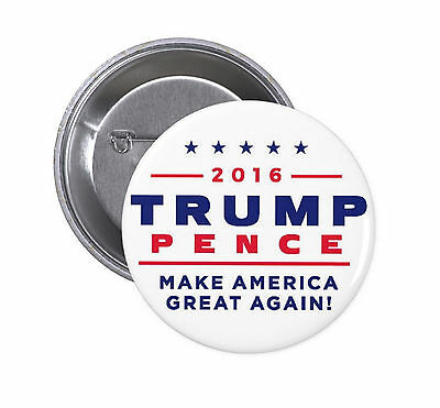 Trump Pence PINBACK BUTTONS pin donald badges campaign 2016 2020 magnet #1449