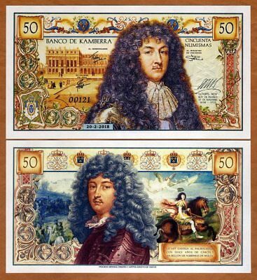 Kamberra, 50 Numismas, 2018, UNC > King Louis XIV of France commemorative