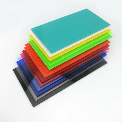 Acrylic Sheet Panel Plastic Plexiglass Color Plate 8x8/10x20/15x15/20x20/30x40cm