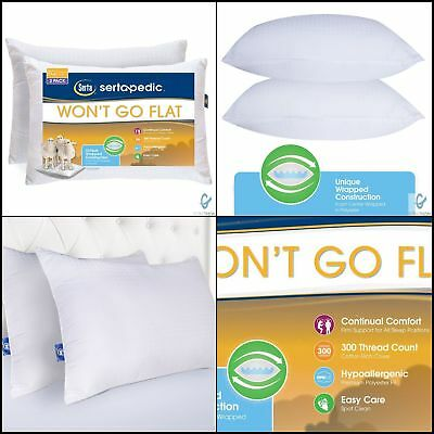 Set Of 2 Bed Foam Pillows King Size Hypoallergenic Cool Comfort Sleep Pillow NEW