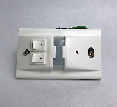 FREE SHIPPING Hubbell WS1277W2 H-Moss Sensor White 2 Circuit Wall Switch 1000 SQ