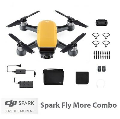 DJI Spark FLY MORE COMBO Sunrise Yellow Kamera Drohnen Drone Quadcopter Gelb