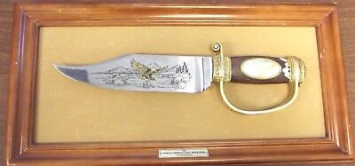 Franklin Mint American Heritage Eagle Bowie Knife by Ronald Van Ruyckevelt