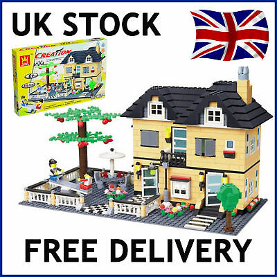 Creation NEW City Villa Play House w// Seesaw Compatible Building Bricks 539pcs