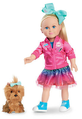 "MY LIFE As A JOJO SIWA Doll & A BOW BOW Dog Plush 18"" Exclusive New In Box"