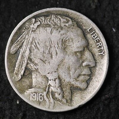 1916-D Buffalo Nickel CHOICE VF FREE SHIPPING E187 KCE