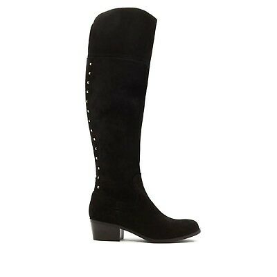 05078b7f9a0 Vince Camuto Bashan Over-the-Knee Leather Boot studs BLACK SUEDE 6M NEW 569