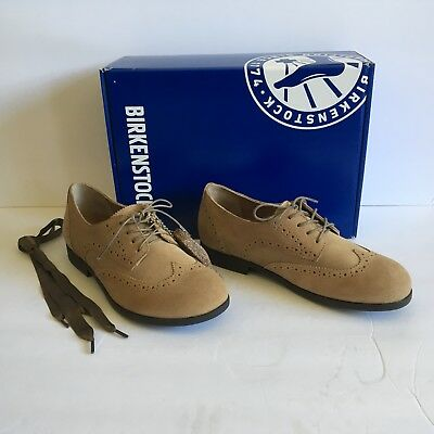 Birkenstock Womens Laramie Low Sand Suede Lace up Shoes Size