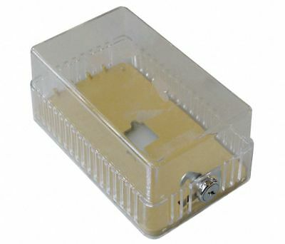 Universal Locking Thermostat Guard Cover, Polystyrene, Clear Plastic, 13G329