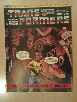 G1 Transformers Comic no 23, from the 80s and original (Really rare)