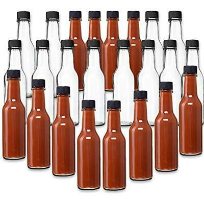 Canning Hot Sauce Clear Glass Dasher Bottle, 5oz, 24 Pack