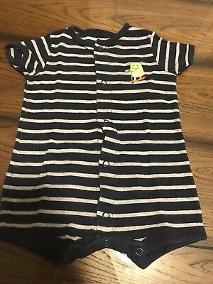 8291c71a1 CARTERS BABY BOY Monster Navy Blue Stripe 3 Months Short Sleeve One ...