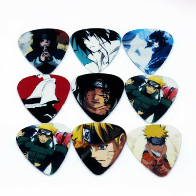 Naruto Anime Japanese Guitar Picks Lot of 10 .46 mm Free Tracking Thin New!