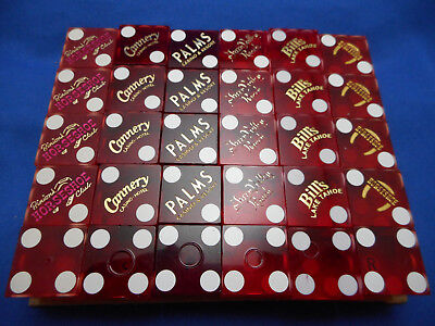 Lot of 30 Casino Dice - 6 Sticks with Matching Numbers Selection D