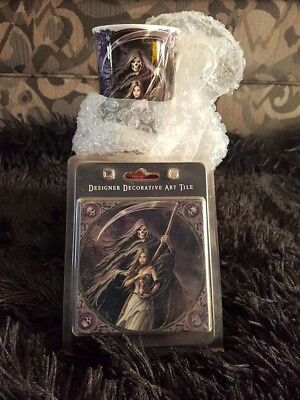 Anne Stokes Summon the Reaper Mug & Tile - Like New Condition