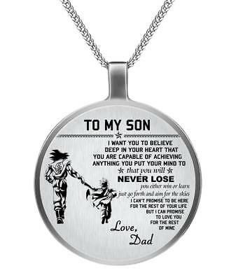 443b99287f7a3 TO MY SON Necklace chain - Dad Goku & Son Gohan Dragonball - Best Gifts for  Son