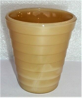 Akro Agate Stacked Disc Carmel Tumbler/Glass ~ 3 Available