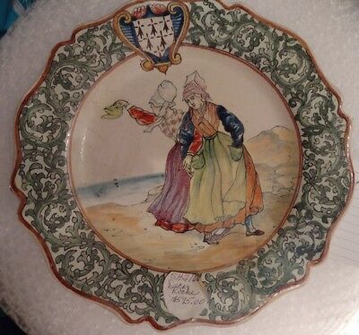 French Decor Riche PLate from Personal Collection Two Peasant Women