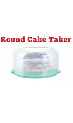 New Tupperware Round Cake Taker Flip Base For Divided Serving Tray